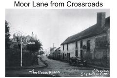 Moor Lane from the Cross