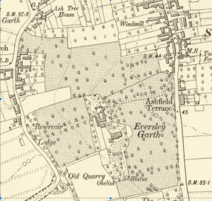 Eversley Garth map